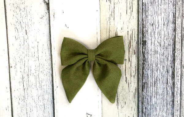 Olive Hairbow