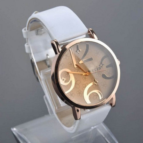 Quartz Watch PU Leather *41, Big Number Women Watch