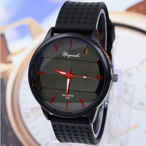 Analog Silicone Leather Watch Men and Women Sports Wrist Watch
