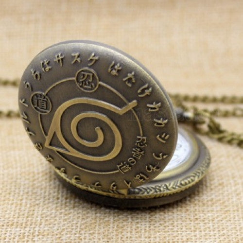 Engraved Bronze Quartz Unique Antique Style Workable Pocket Watch