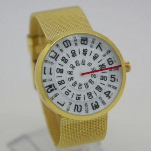 Unique Luxury Men Gold Stainless Steel Watch  Fashion Jialilei