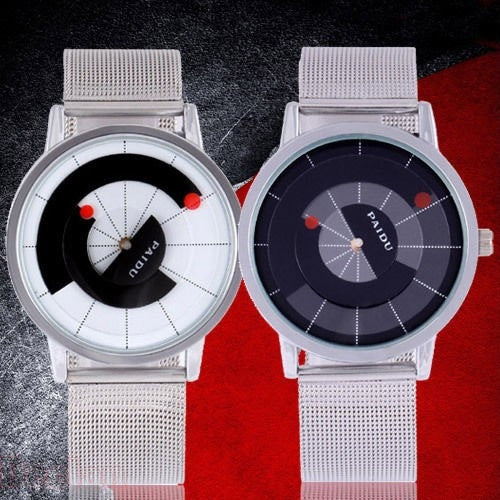 Luxury New Unique Fashion Cool Quartz Wrist Watch Turntable Dial Men