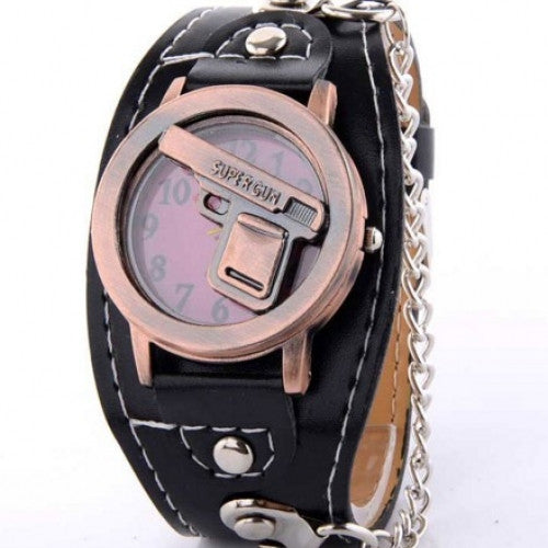 Fashion Quartz Punk Wrist Watch For Men Boy S014 Retro Unique Shape