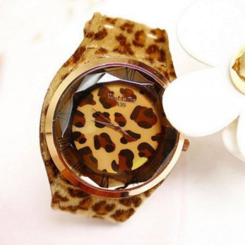 WoMaGe A35 Women Fashion Unique Leopard Print Big Round