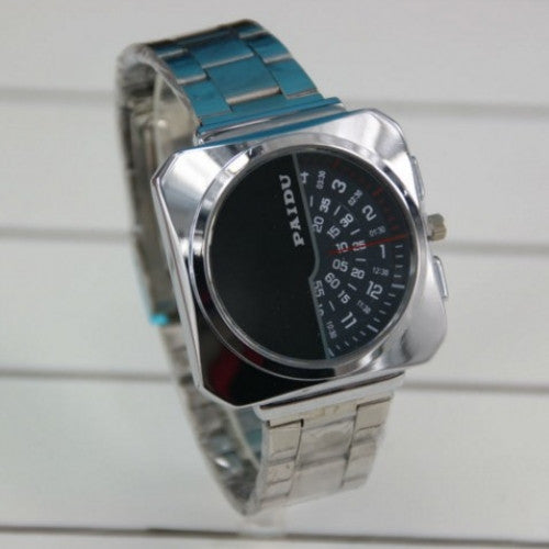 Women Men Full Stainless Steel Watch Unique Design