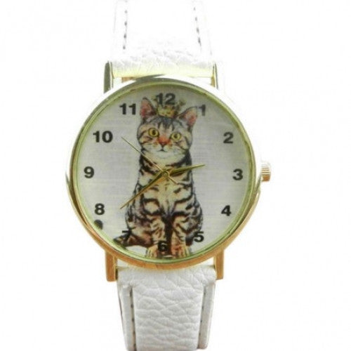 Lovely Cats Face Dress  Women Watches