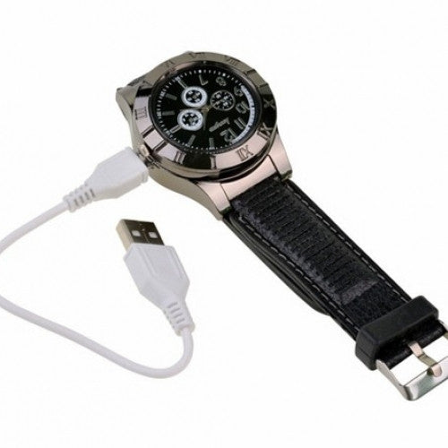 Military Electronic Lighter Usb Quartz Watch