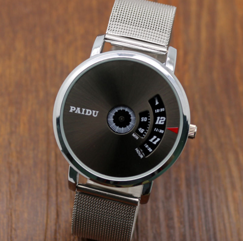PAIDU Net Mesh Steel Band Wrist Fashion Watch Men Women