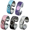 Casual Flower Bracelet Watches Women Stainless Steel Paniting