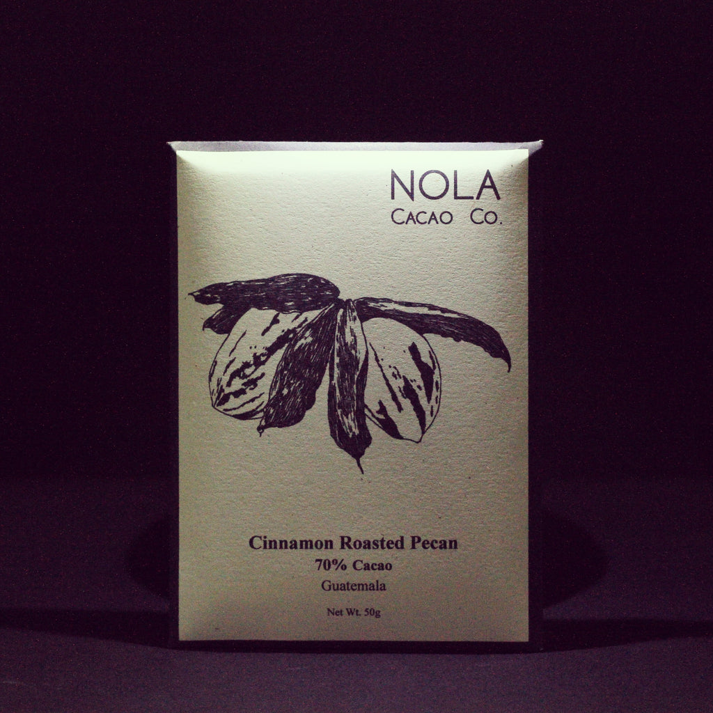70% Cacao - Cinnamon Roasted Pecan Bar - Chimelb, Guatemala
