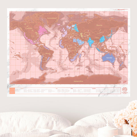 BACKPACKER ROSE - Mapa del mundo rascable