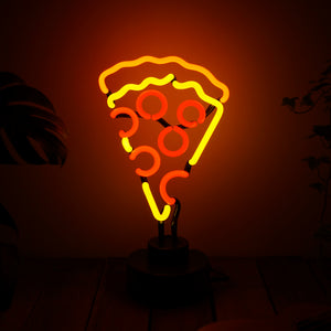 SLICY - Neon con forma de pizza