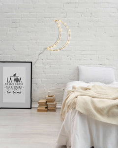 ELARA - Luna decorativa con luces para la pared