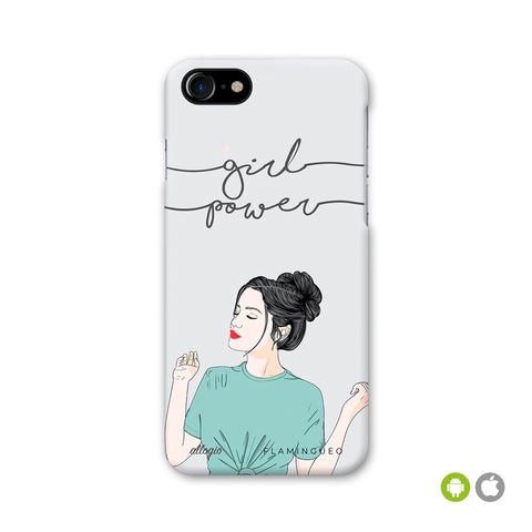 FUNDA GIRL POWER - disponible para iPhone y Android - Flamingueo