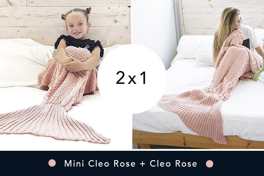 2 Mantas de Sirena - Mini Rose + Cleo Rose