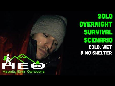 Solo Overnight Survival Scenario: Cold, wet, & no shelter but a TITAN emergency sleeping bag