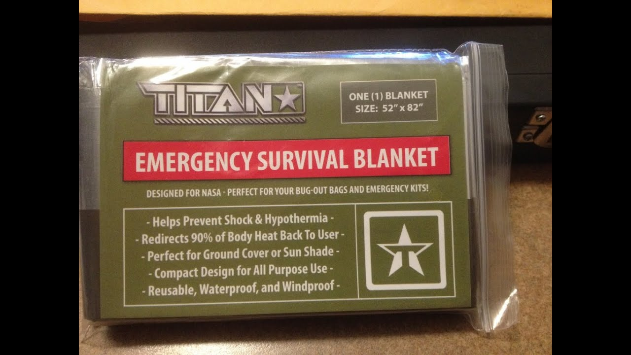 TITAN Emergency Survival Blanket New Item Review