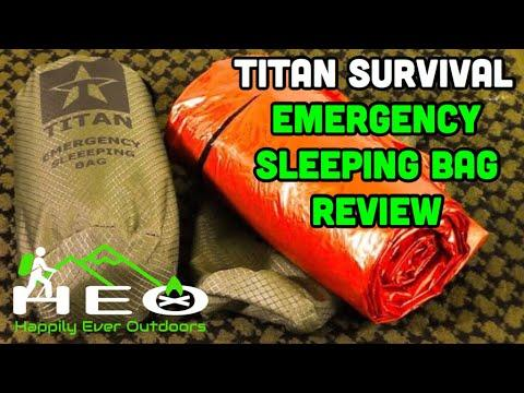 Titan Survival Emergency Sleeping Bag Review by Happily Ever Outdoors