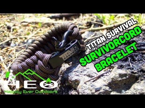 Titan Survival SurvivorCord Bracelet Review by Happily Ever Outdoors