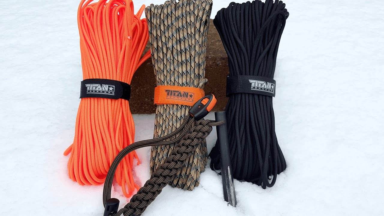 TITAN Survival- SurvivorCord & Ferro Rod Review - What's In Your 550 Cord?