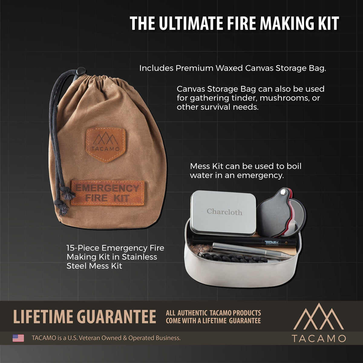 15-Piece Emergency Fire Kit Combustion TACAMO