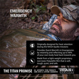 Emergency Sleeping Bag, WOODLAND SHROWD Survival Blankets TITAN Survival
