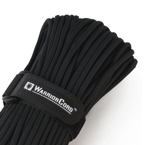 MIL-SPEC WarriorCord | BLACK, 100 FEET WarriorCord Titan Survival