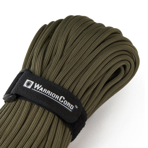 MIL-SPEC WarriorCord | OLIVE-DRAB, 100 FEET WarriorCord Titan Survival