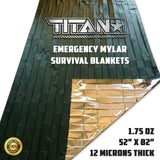 Mylar Survival Blankets, 5-Pack, OLIVE-DRAB Survival Blankets Titan Survival