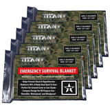Mylar Survival Blankets, 5-Pack, WOODLAND SHROWD Survival Blankets Titan Survival