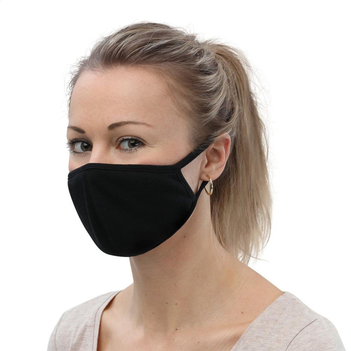 SILVERPLUS® Washable Face Masks (3-Pack), BLACK Face Masks TITAN Survival SMALL