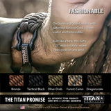 SurvivorCord Paracord Survival Bracelet Survival Essentials Titan Survival
