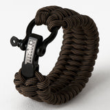 "SurvivorCord Paracord Survival Bracelet Survival Essentials Titan Survival BRONZE MED (7"" - 8"" Wrist)"