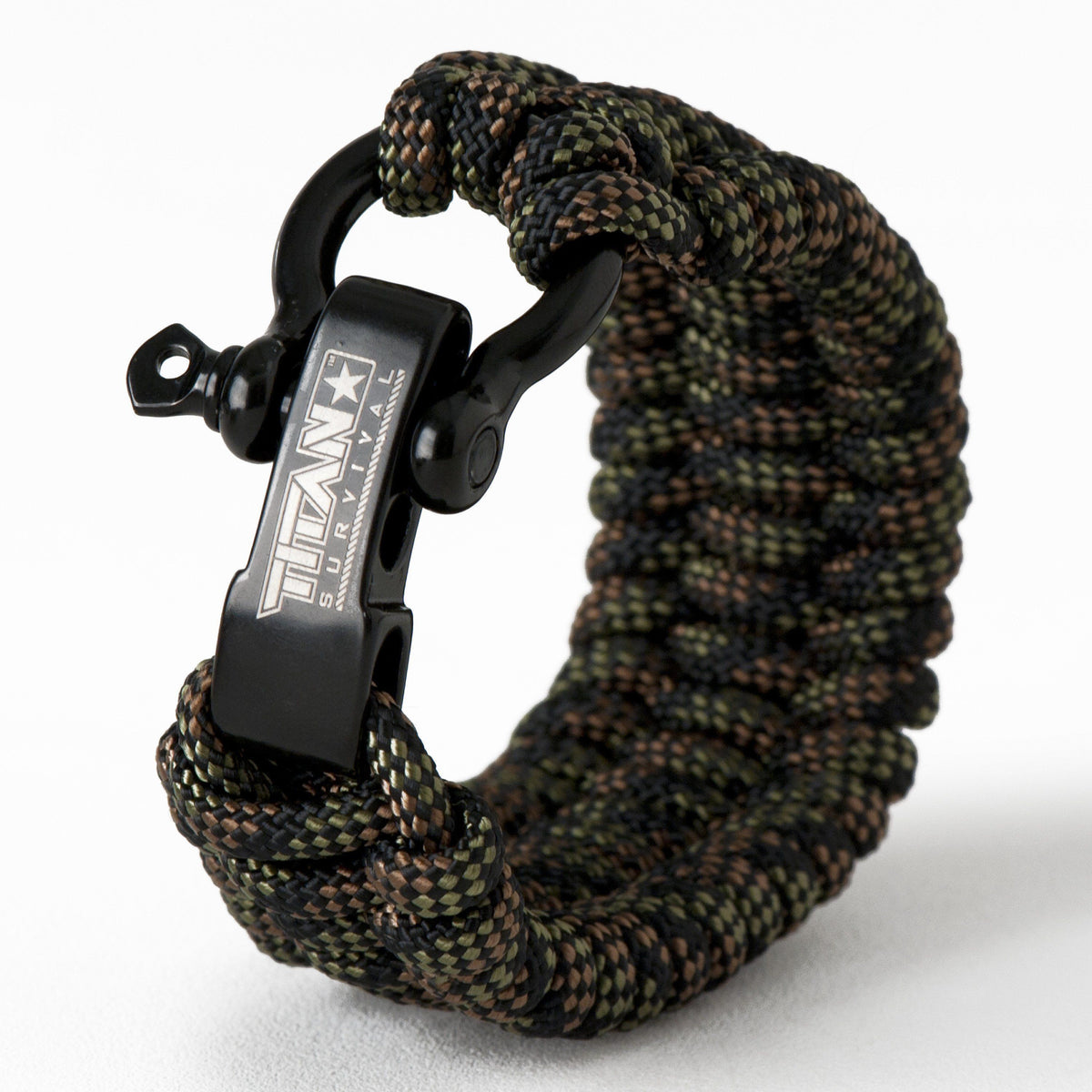 "SurvivorCord Paracord Survival Bracelet Survival Essentials Titan Survival DRAGONSCALE MED (7"" - 8"" Wrist)"