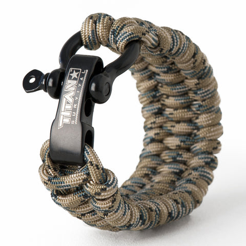 "SurvivorCord Paracord Survival Bracelet Survival Essentials Titan Survival FOREST-CAMO MED (7"" - 8"" Wrist)"