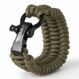 "SurvivorCord Paracord Survival Bracelet Survival Essentials Titan Survival OLIVE-DRAB MED (7"" - 8"" Wrist)"