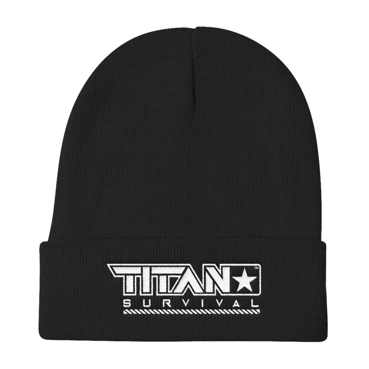 TITAN Knit Beanie MERCH TITAN Survival Black