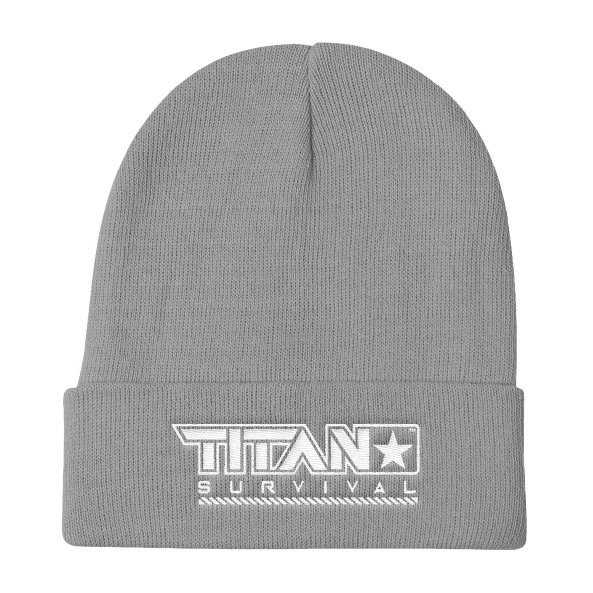 TITAN Knit Beanie MERCH TITAN Survival Gray