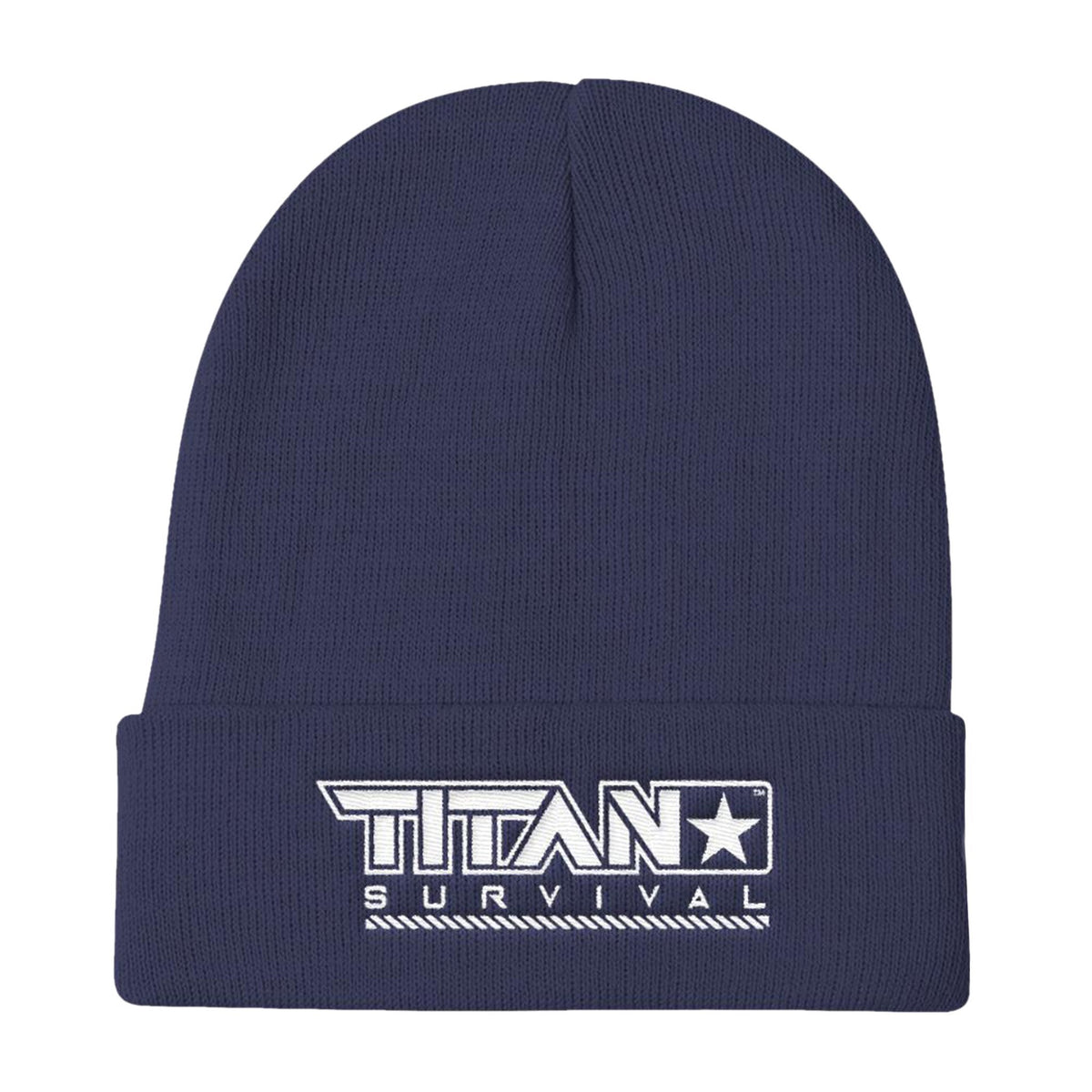 TITAN Knit Beanie MERCH TITAN Survival Navy