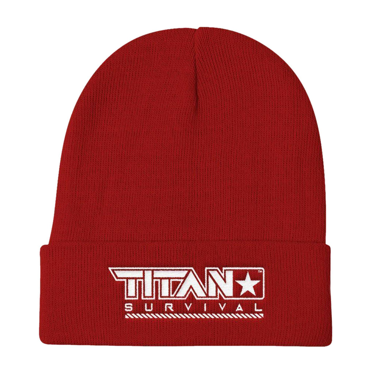TITAN Knit Beanie MERCH TITAN Survival Red