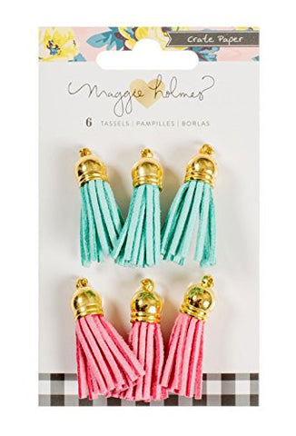 "BLOOM SUEDE TASSELS 1.5"" 6/PKG"