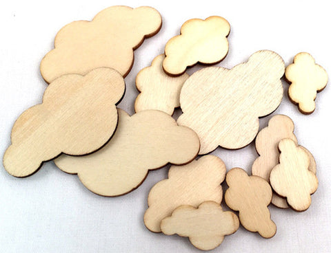 Wood Veneer Shapes - Clouds