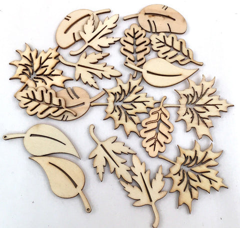 Wood Veneer Shapes - Fall Leaves
