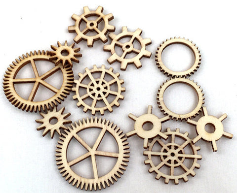 Wood Veneer Shapes - Sprockets