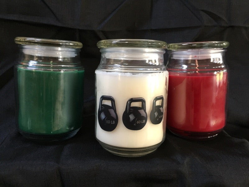 New Fitness Themed Holiday Candles