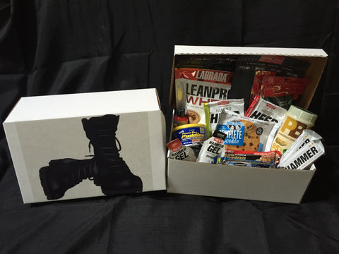 Army Boots Military Themed Gift Box Fit Soldier - Fitastic Gift Basket
