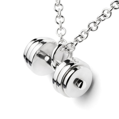 Crossfit Fitness Themed Dumbbell Necklace - Fitastic Gift Basket