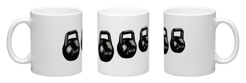 Crossfit Kettlebell Fitness Themed Coffee Mug - Fitastic Gift Basket