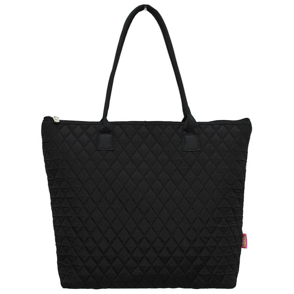 NGIL Quilted Medium Tote Bag Solid Color