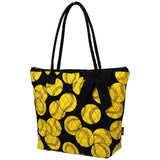 NGIL Quilted Medium Tote Bag Softball Black